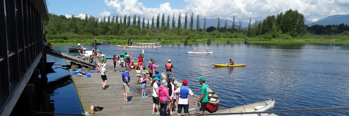 Busy day at the Burnaby Canoe & Kayak Club